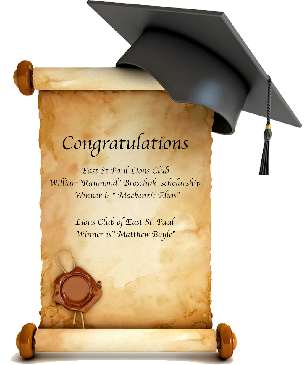 2018 Lions Club of East St. Paul Scholarships